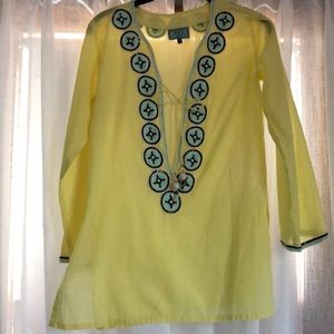 Taj by Sabrina crippa embroidered sequin tunic